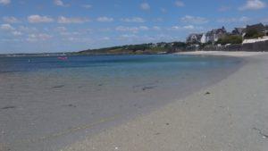 Concarneau et sa plage de Cornouaille dans la Finistère.